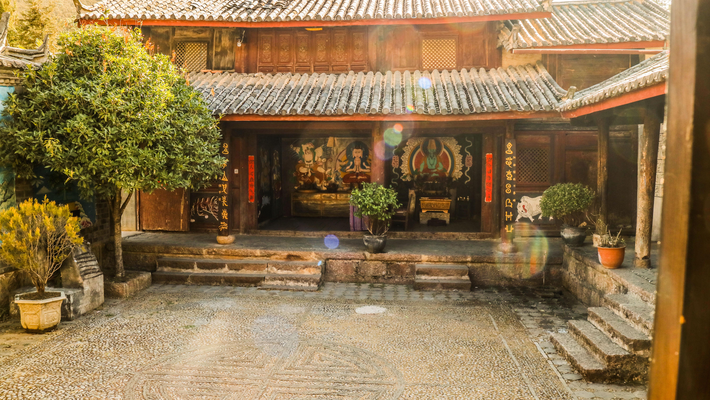 清晨的东巴神院